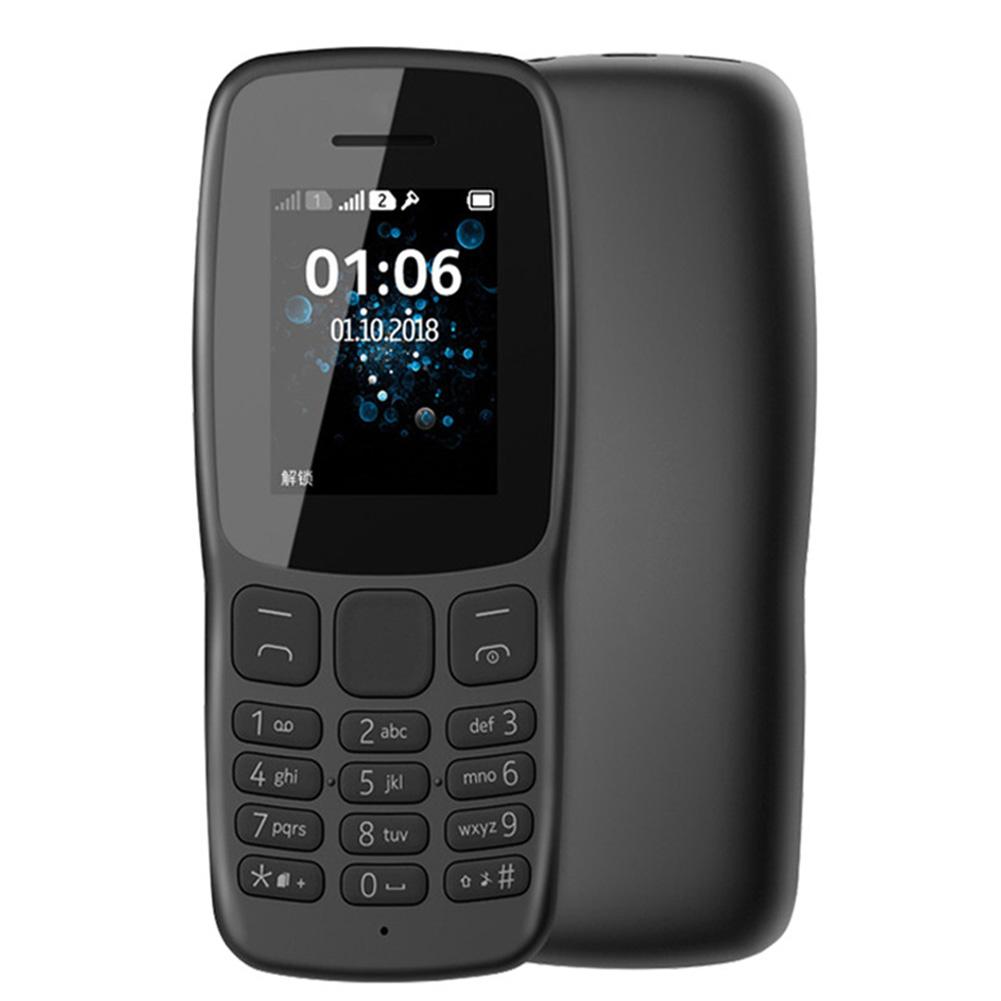 1062G Mobile Phone Dual Sim 1-8 Inches Large Hd Screen Phone black