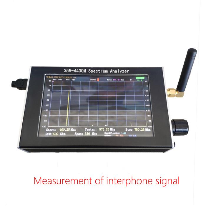 Spectrum Analyzer Handheld 35M-4400M Simple Measurement of Interphone Signal black