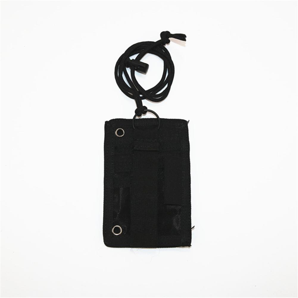 FGJ Outdoor Id Card Holder Card bag Neck Lanyard Key Ring Adjustable Loop Patch Document bag black_13.5cm x 9cm