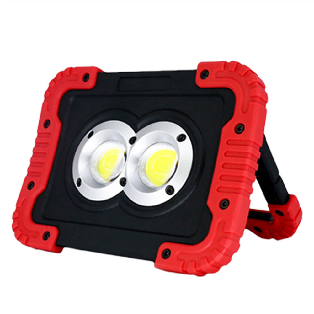 LED Double-end COB Portable Work Light for Outdoor Tent Waterproof USB Charging Camping Lamp Spotlight Battery