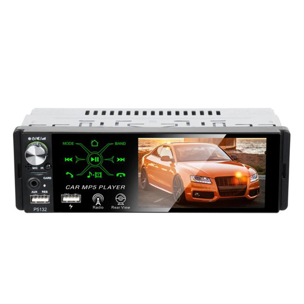 4.1 inch Touch Screen Car In-Dash Stereo Audio Bluetooth AM FM RDS Radio Head Unit MP5 Multimedia Player Without camera