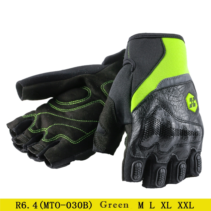 Moto Motocross Gloves Men Women Off-Road Motorbike Half Finger Touch Screen Gloves Green XXL