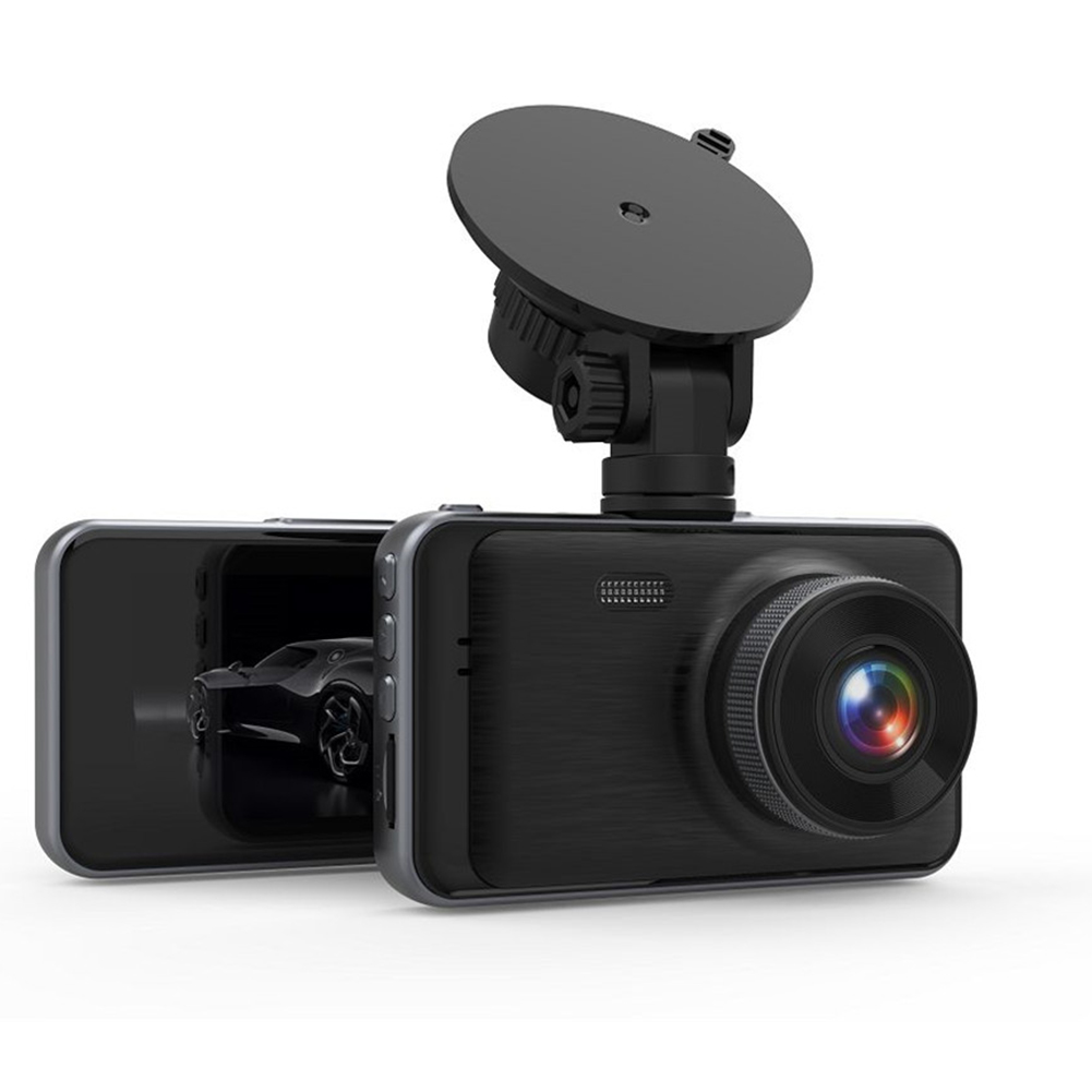 3 Inches HD Cam Dual Lens Car DVR Camera 1080P Front+Rear Night Vision Video Recorder Dashcam Parking Monitor black