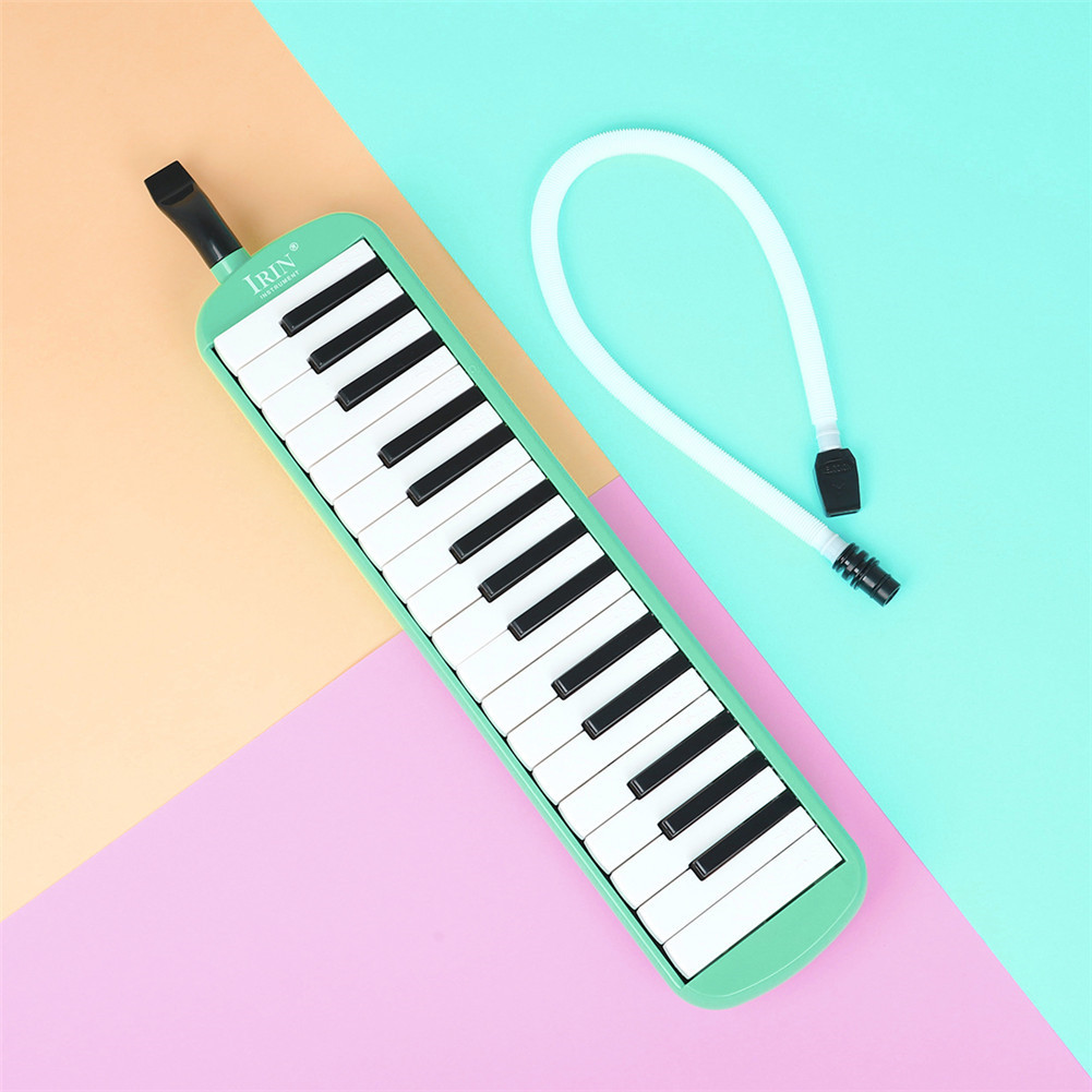 32-key Piano Professional Playing Musical Instrument with Mouthpiece + Long Hose green_32 keys