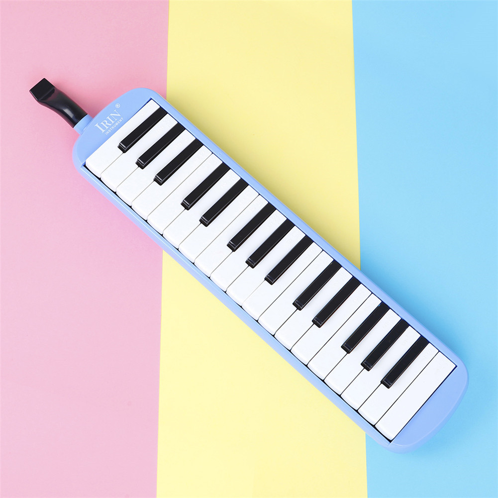 32-key Piano Professional Playing Musical Instrument with Mouthpiece + Long Hose blue_32 keys