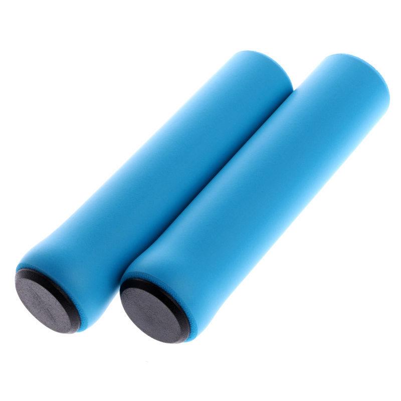 1Pair Ultra Light Anti-Slip Bike Handlebar Grip Cover for Bicycle Mountain Bike BMX Folding Bike Blue