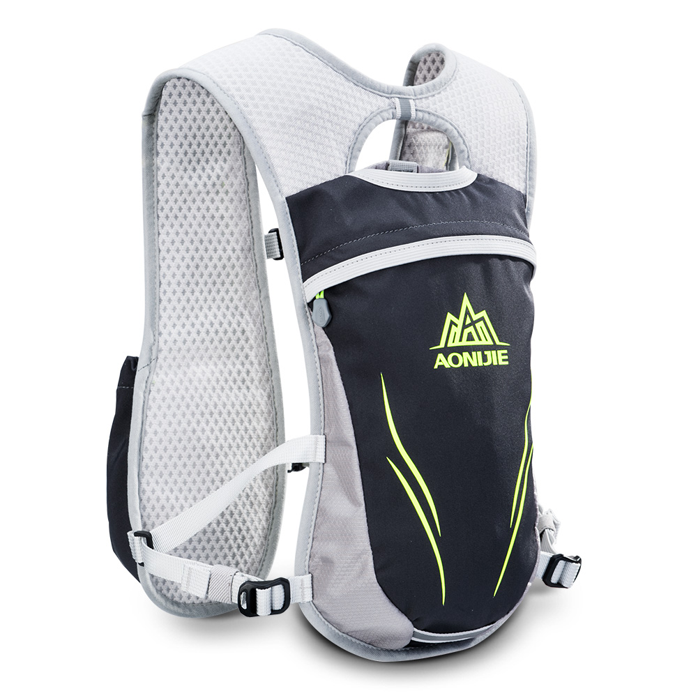 2L Outdoors Mochilas Trail Marathoner Running Race Hydration Vest Hydration Pack Backpack  Grey