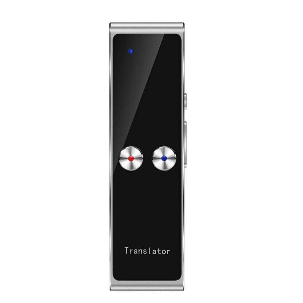 Portable Wireless Bluetooth Translator Language Translation Silver grey