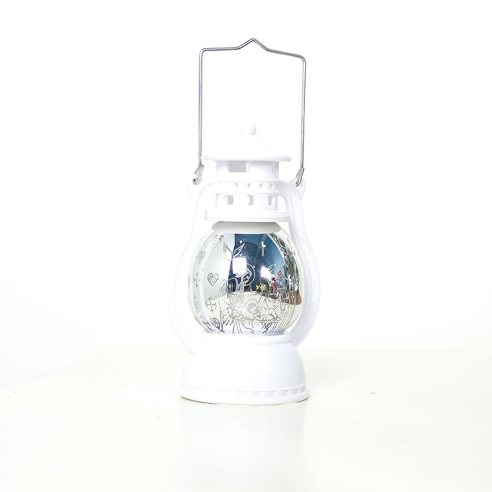 Christmas Decoration Light Lamps Creative Printing Oil Lamp Ornament Laser Barn Lantern Hanging Decoration