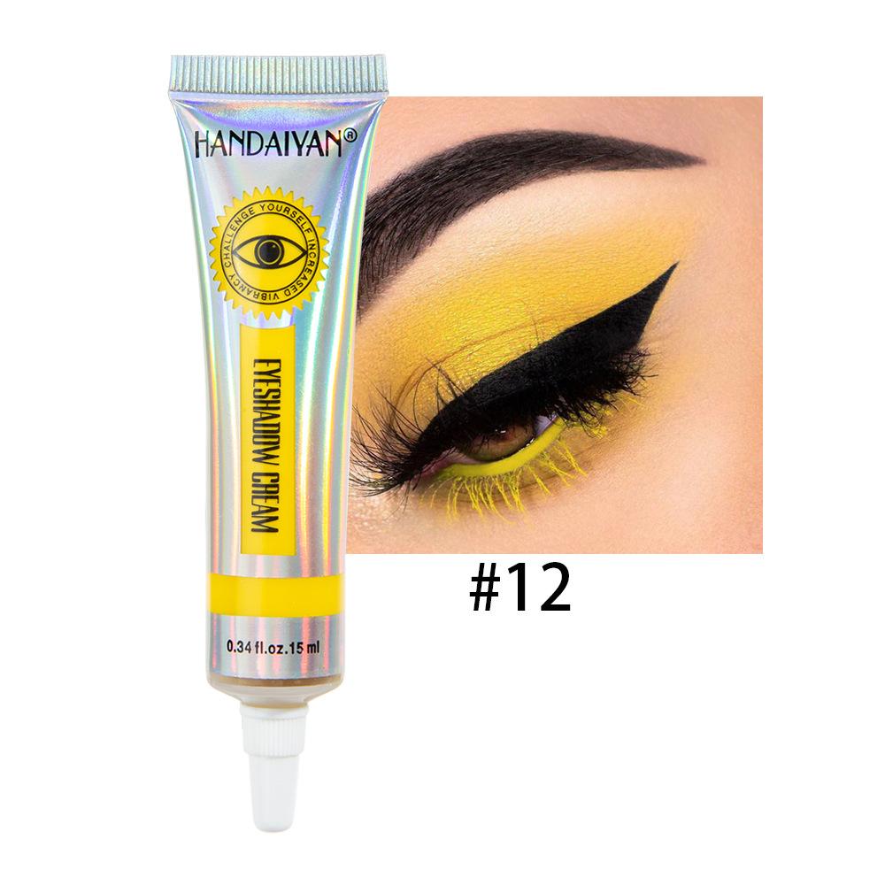 Universal 12 Colors Matte Eyeshadow Lasting Eye Shadow Cream for Women 12#