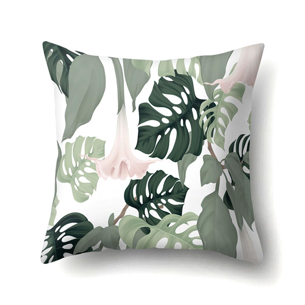 Tropical Plants Leaves Pillowcase Banana Leaf Palm Leaf Cushion Cover Home Decor CCA407(15)