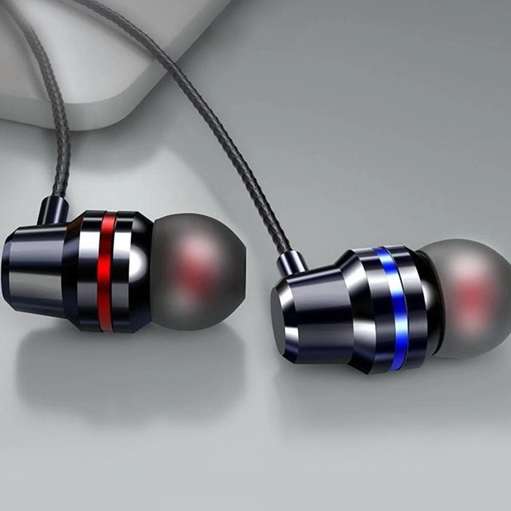HIFI Super Bass Wired Headset 3.5mm In-Ear Earphone Stereo Earbuds  black