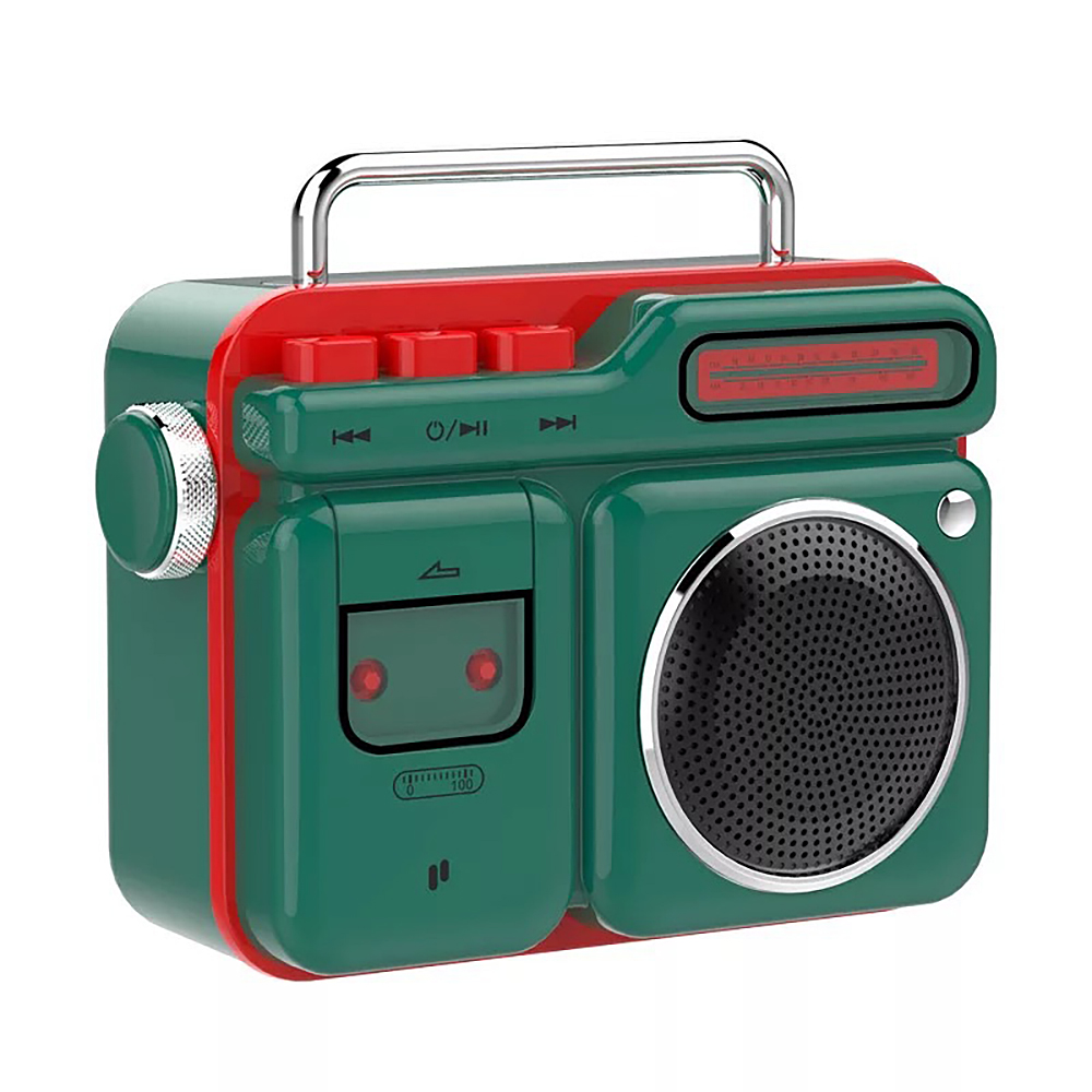 PURIDEA MOCA Portable Bluetooth Speaker Retro Radio-shaped Mini Stereo Loundspeaker green