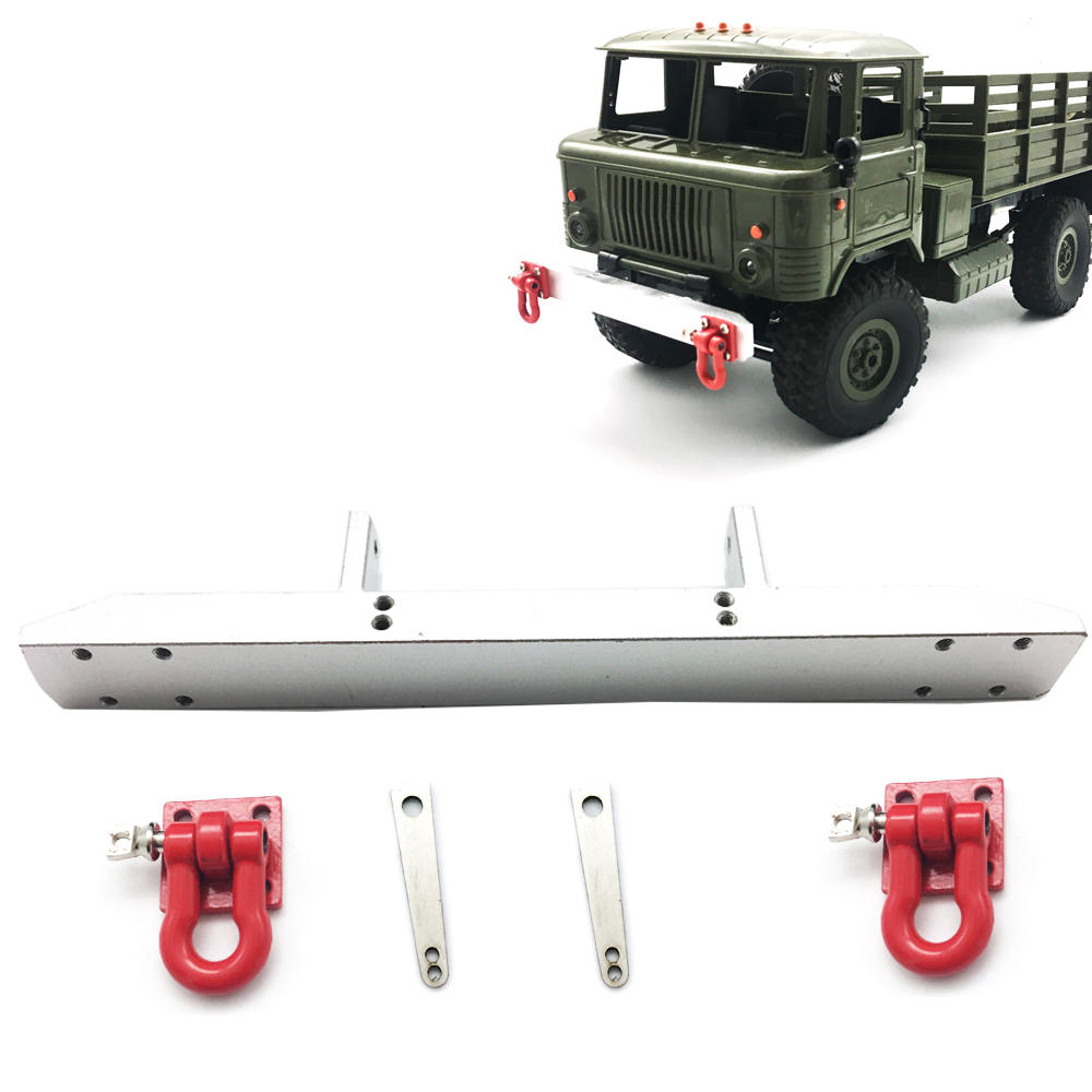WPL 1/16 GASS66 Metal RC Car Bumper Protector With Hook  Silver