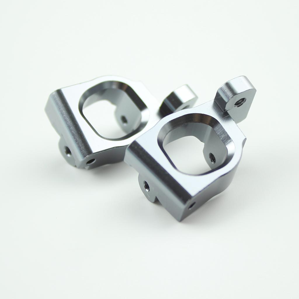 2Pcs Metal C Base Seat for WLtoys 144001-1253 1/14 RC Car Upgrade Spare Parts titanium color_1 pair