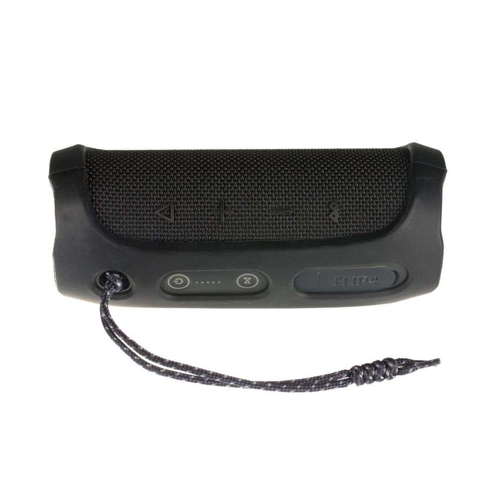 Soft Silicone Case Shockproof Waterproof Protective Sleeve for JBL Flip4 Bluetooth Speaker black