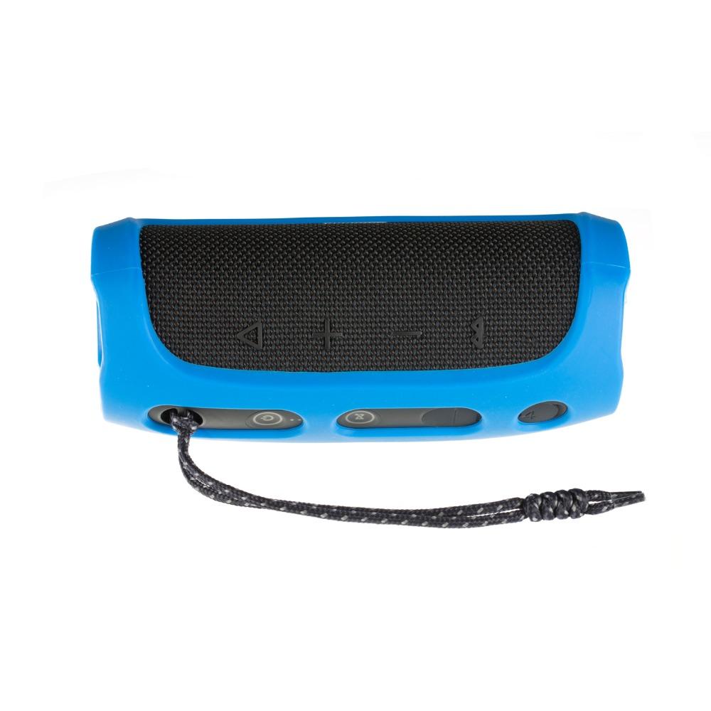 Soft Silicone Case Shockproof Waterproof Protective Sleeve for JBL Flip4 Bluetooth Speaker blue
