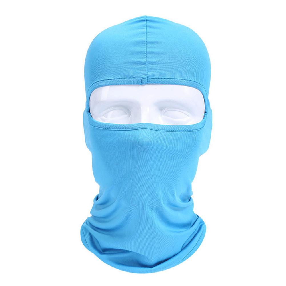 Lycra Fabrics Ski Face Mask Motorcycle Cycling Bike Skateboard Balaclava Sky blue_Average size