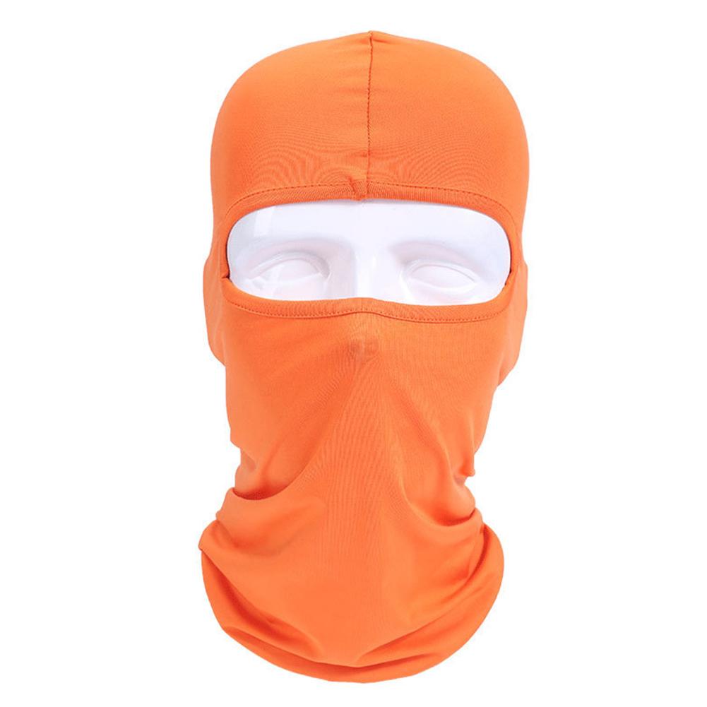 Lycra Fabrics Ski Face Mask Motorcycle Cycling Bike Skateboard Balaclava Orange_Average size