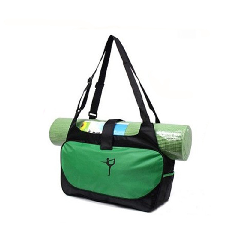 Large Capacity Yoga Bag Shoulder Bag Waterproof Case Carriers (Mat not included) 48*24*16cm Green
