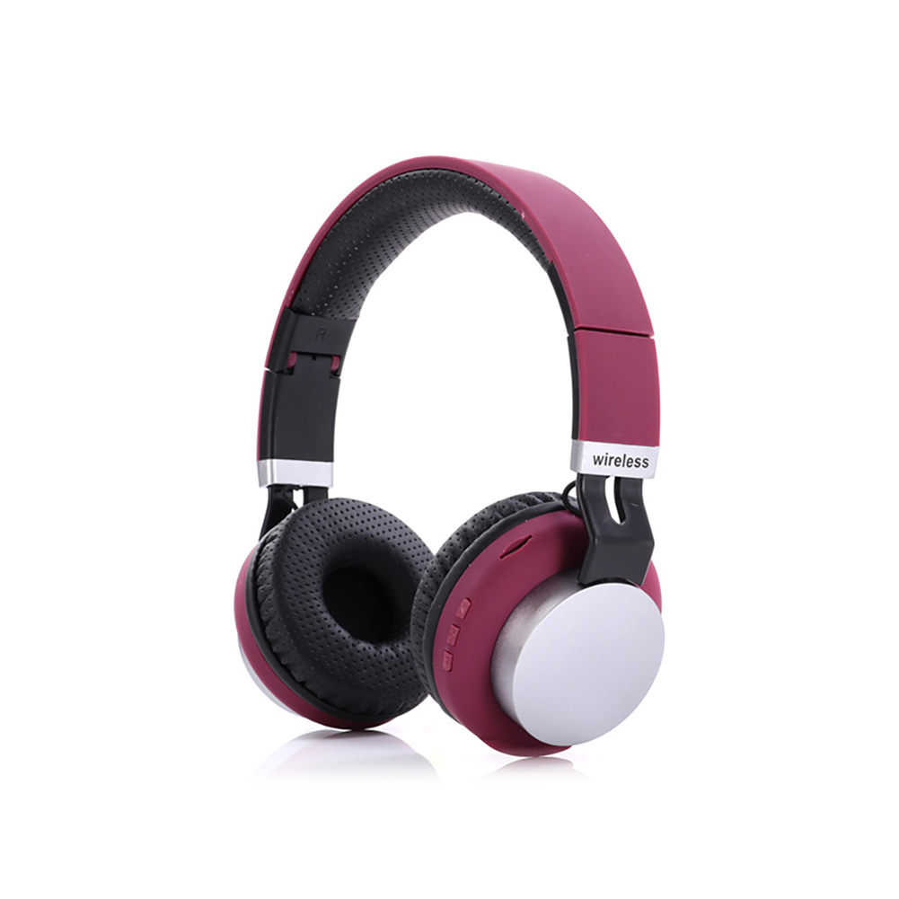 MH8 Head Set Wireless BT Headset 5.0 Insert Card Foldable Stereo Music Headphones purple