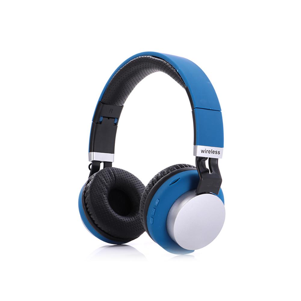 MH8 Head Set Wireless BT Headset 5.0 Insert Card Foldable Stereo Music Headphones blue