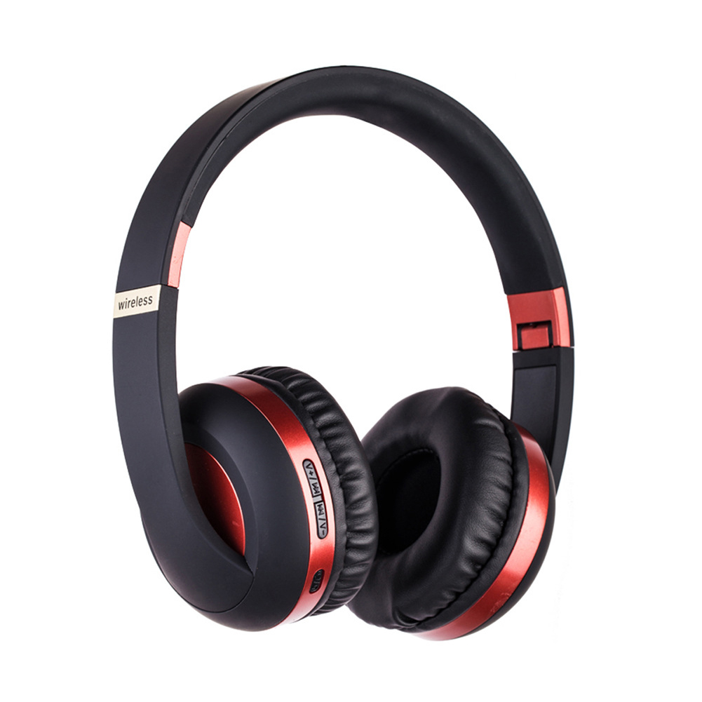 BT Headset Sport 5.0 Mobile Phone Bass Headset MH4 red