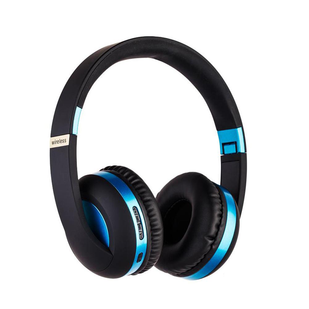 BT Headset Sport 5.0 Mobile Phone Bass Headset MH4 blue