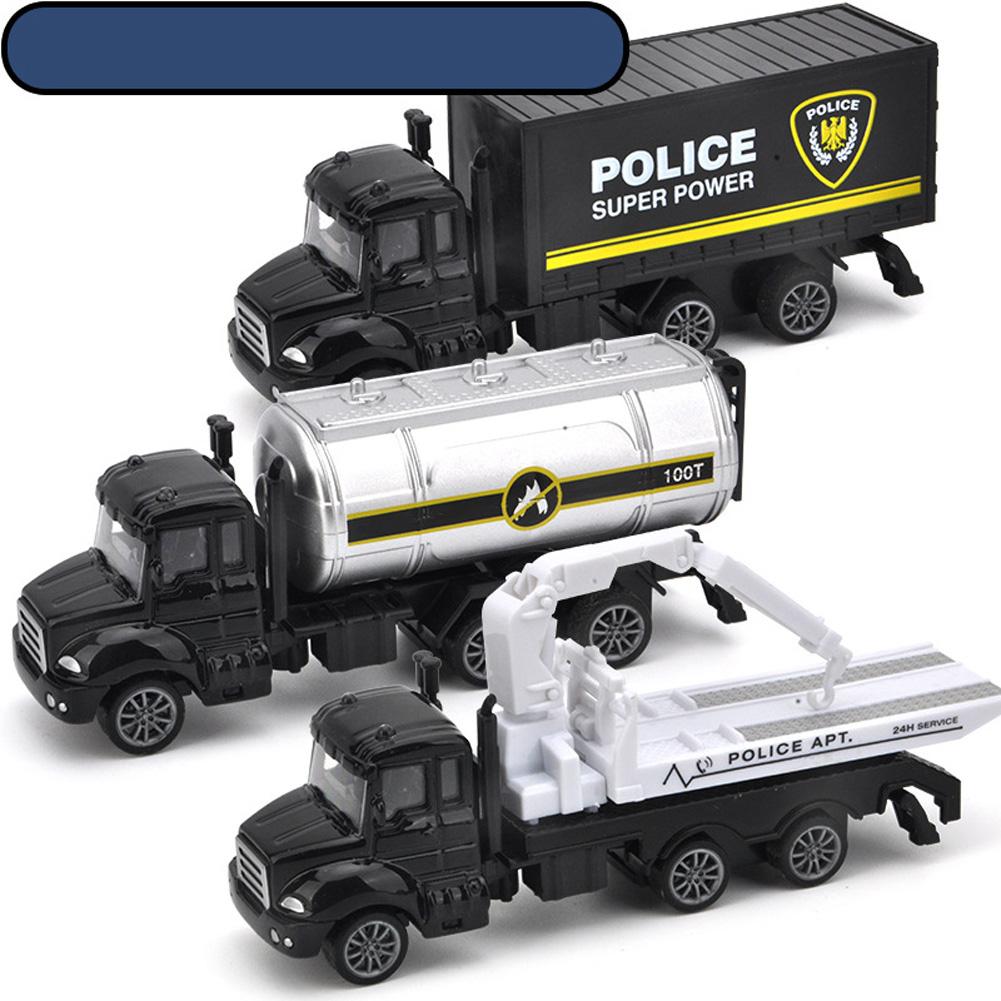3pcs/set Simulate Sliding Alloy Car Model 1:64 Kids Toys Set Collection Rescue series