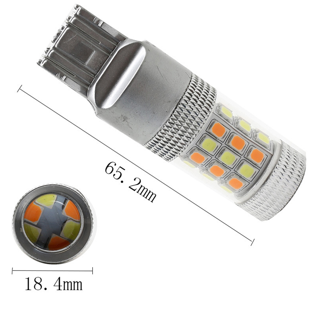 Car Vehicle Double Color Turn Signal White Yellow 7443 42 Light Lamp 1157 3157 Brake Double Wire 7443-white yellow