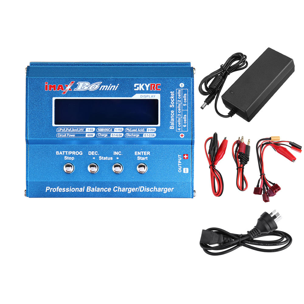 SKYRC IMAX B6 Mini 60W 6A Balance Charger Discharger with Power Supply for LiPo Li-ion LiFe Nimh Nicd Battery AU plug