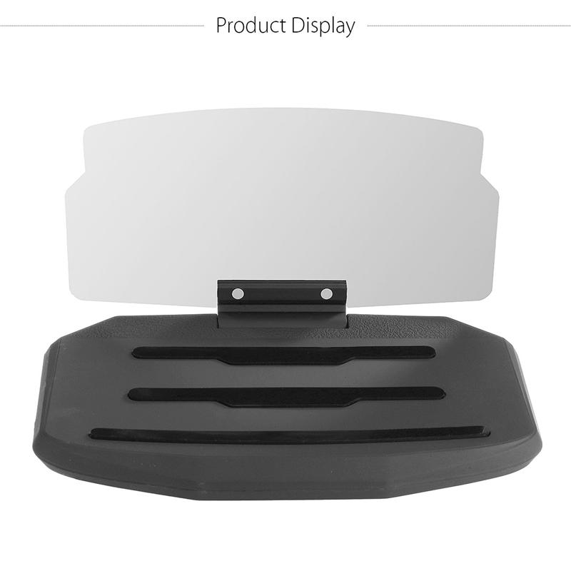 Car Mobile Phone Stand Head Up HUB Hud Display Holder For 6.5'' Mobile Phone As shown