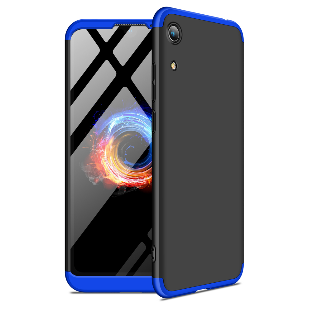 For HUAWEI HONOR 8A Ultra Slim PC Back Cover Non-slip Shockproof 360 Degree Full Protective Case Blue black blue
