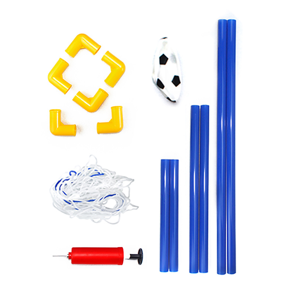Children Toddler Portable Detachable Outdoor Plastic Soccer Goal Set Frame Football Pump Door Net As shown