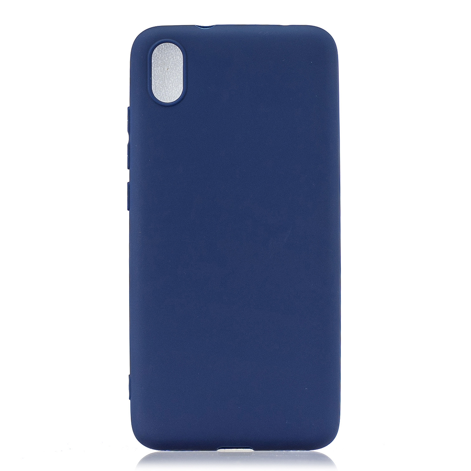 For Redmi 7A Lovely Candy Color Matte TPU Anti-scratch Non-slip Protective Cover Back Case Navy