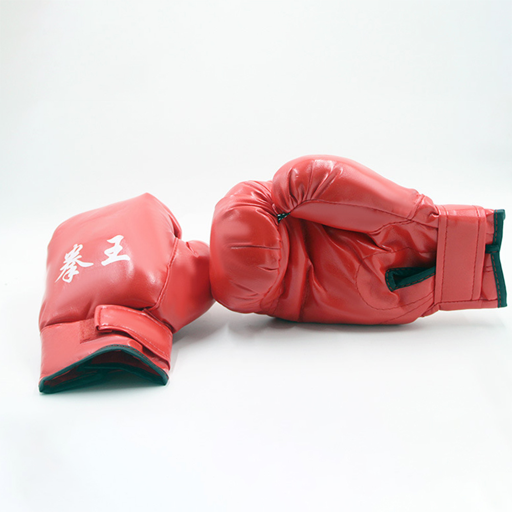 Men Women Kids PU Leather Kick Boxing Gloves Thai Boxing Sports Hands Protector As shown