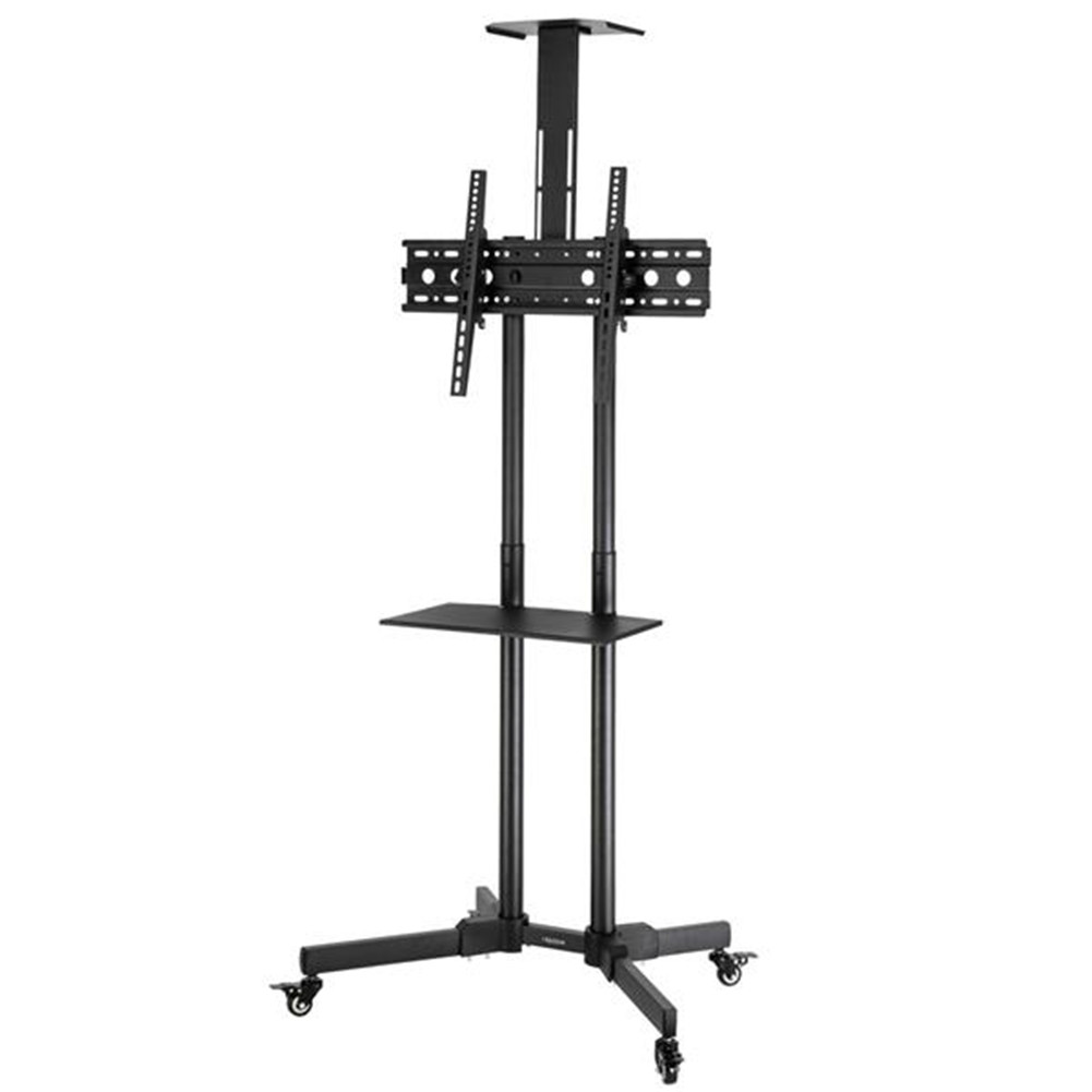 [US Direct] Original LEADZM Tsy 1600 32-70-inch Tv Mobile Trolley With 60kg Load Vesa 400x600 Up Down Adjustable 15-degree With Pulley Tray Camera Bracket black