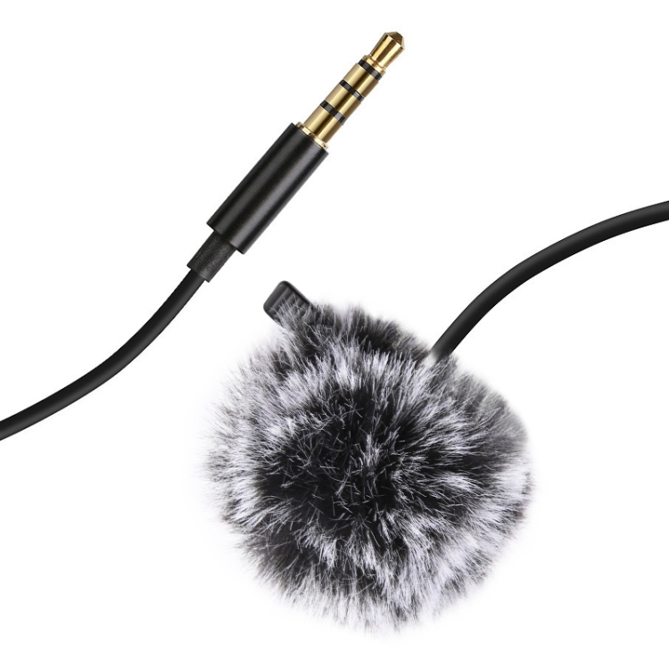 1.5m Clip-on Microphone Collar Tie Mobile Phone Lavalier Microphone Mic for ios Android Cell Phone Laptop 3.5mm interface