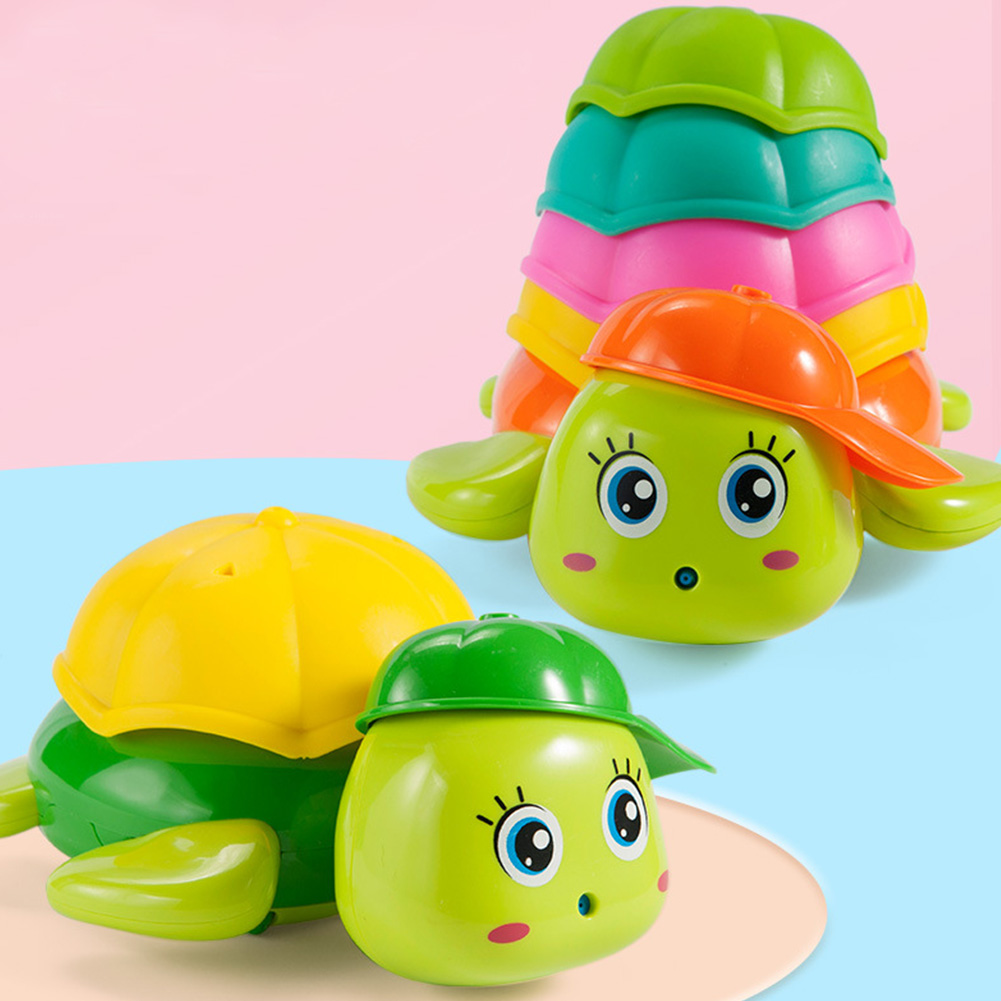Cartoon Tortoise Shape Floating Bathing Water Playing Toy for Kids Random Color