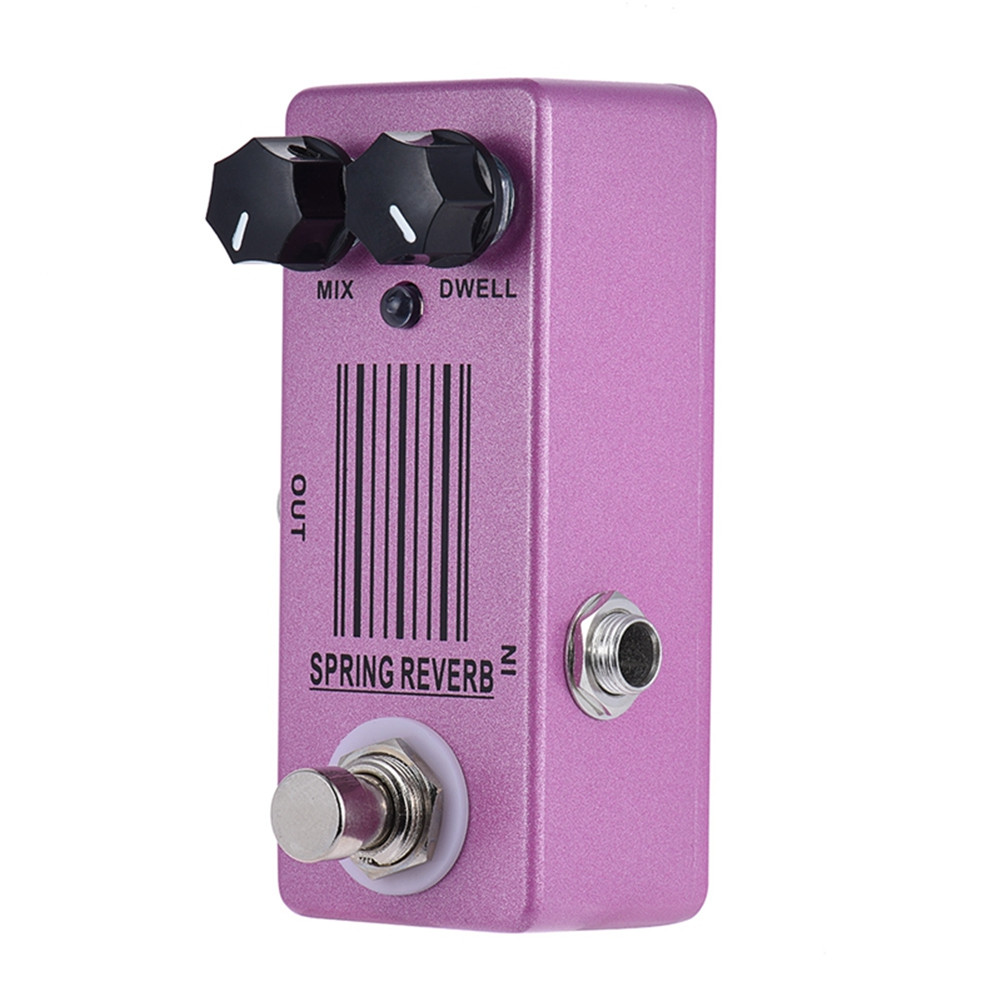 MOSKY Spring Reverb Mini Single Guitar Effect Pedal True Bypass Guitar Parts & Accessories Pink