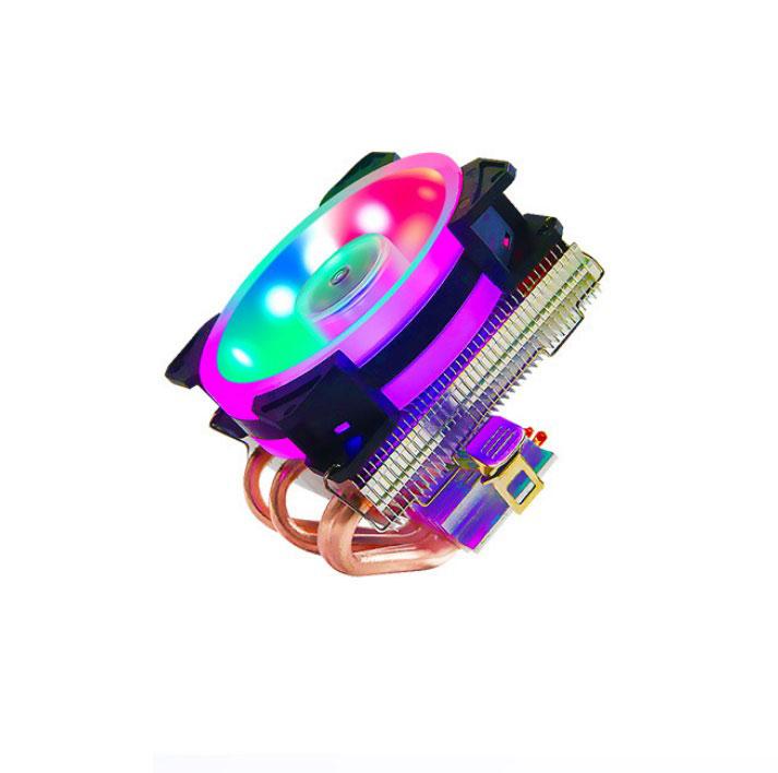 4 Copper Tubes Fans CPU Cooler LED CPU Cooling Fan PWM Silent CPU Cooler LGA/115X/775/AMD 3Pin PC CPU Cooling Radiator  LGA115X/775 Bipolar light colorful