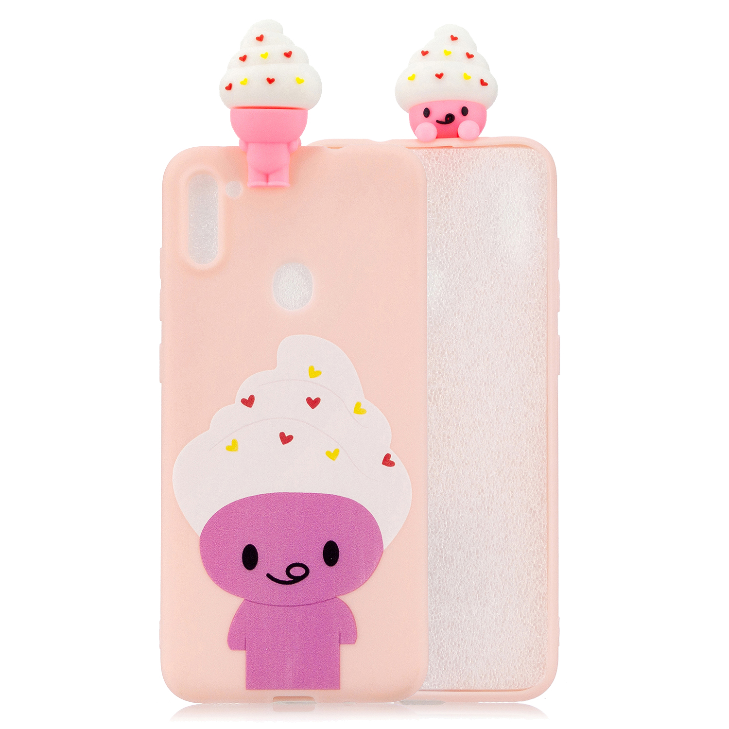 For Samsung A11 Soft TPU Back Cover 3D Cartoon Painting Mobile Phone Case Shell ice cream