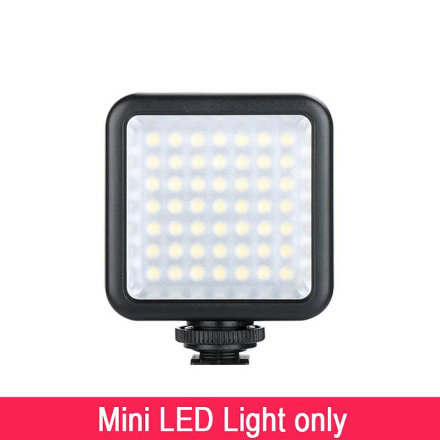 Ulanzi Pocket Camera Mini LED Video Light Photography Fill Light 3 Hot Shoe Mount for DJI Osmo Pocket Nikon Sony A6400 DSLR Gimbals As shown
