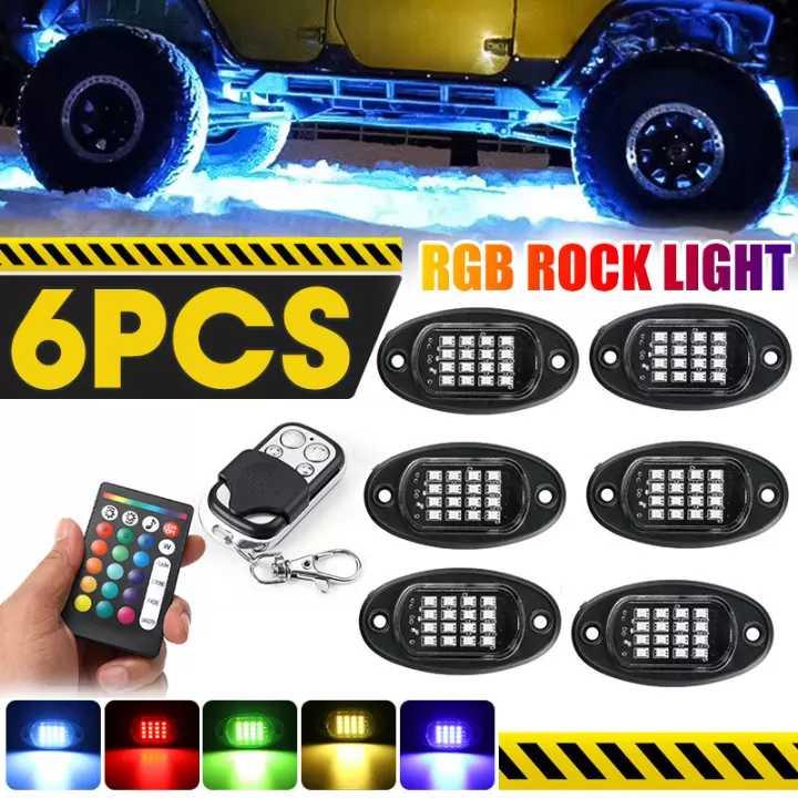 1 set 96 LED RGB rock Lights APP Car Bottom Lights Neon Underglow Waterproof Lighting Kit Colorful_1 to 6