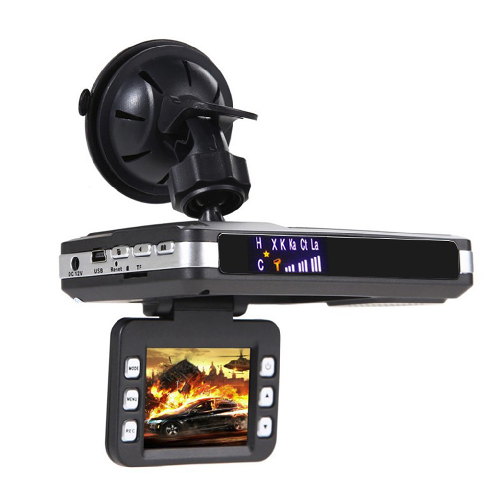 2 in 1 Dash Cam Anti laser Radar Detector DVR Video Recorder Speed Detector black