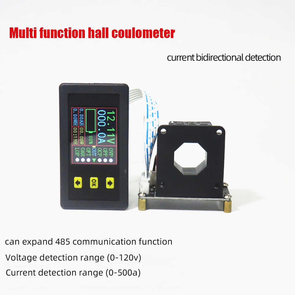 Vac9010h Dc 100a Voltmeter Ammeter Voltage Current Kwh Watt  Meter Battery Capacity Power Monitoring