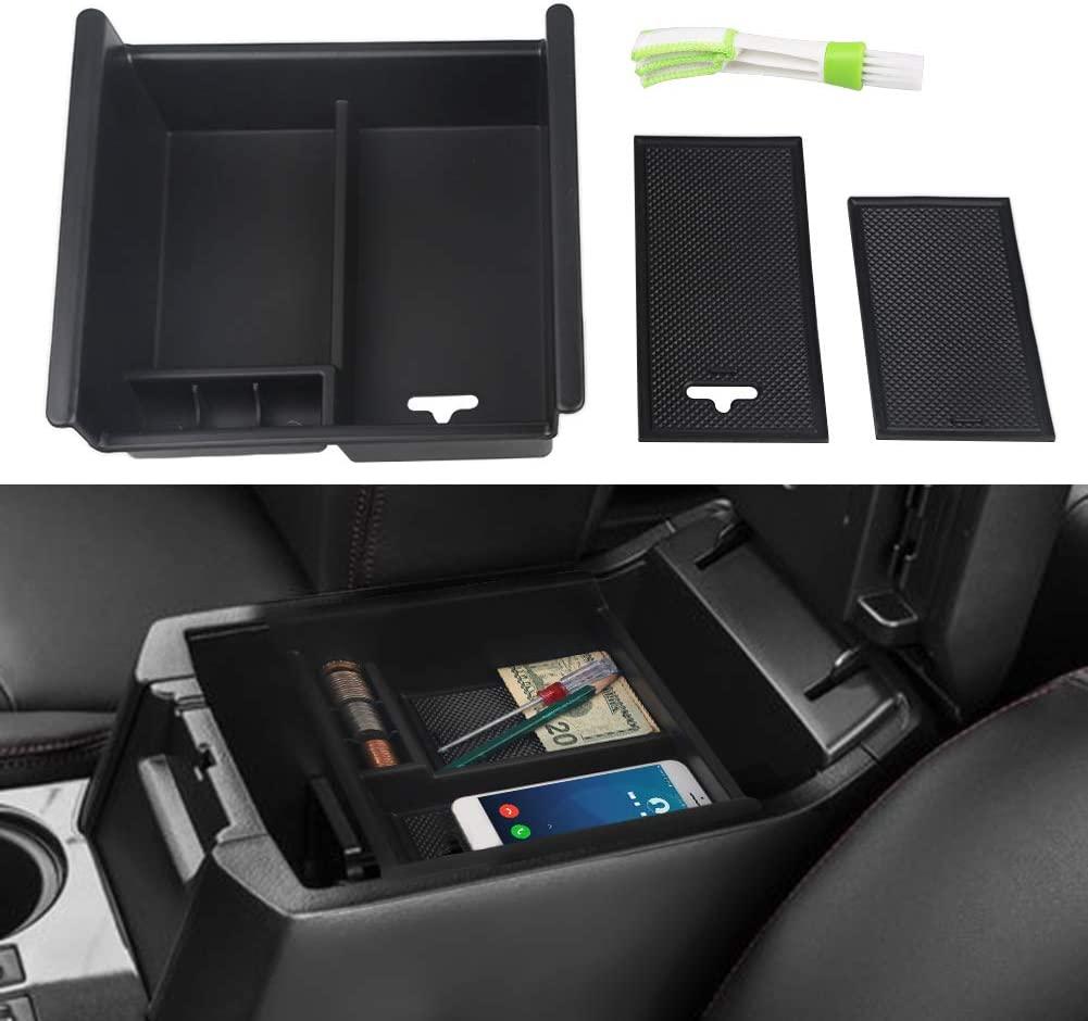 2pcs ABS Armrest Storage Box Central Handrail Storage Box For Toyota 4runner 2010-2020