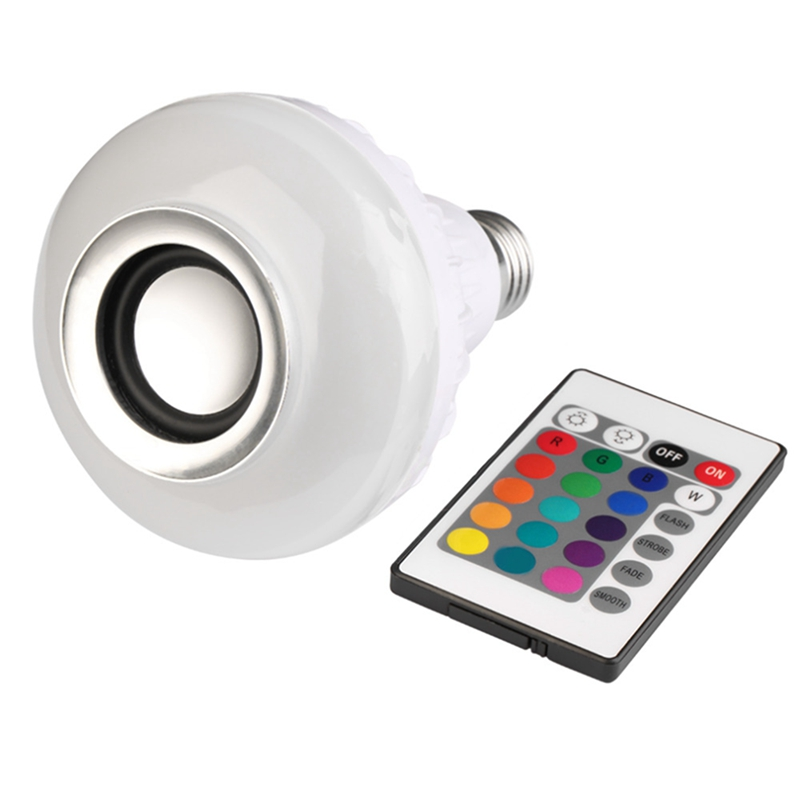 E27 LED  Lamp Smart Music Audio Bluetooth Sp