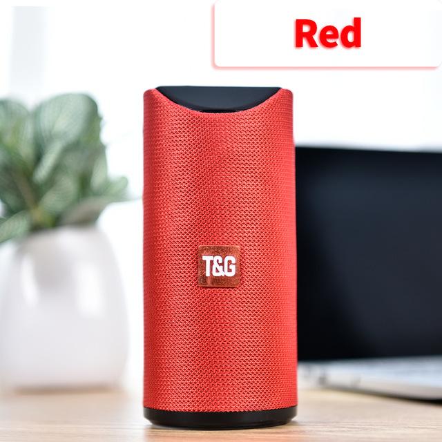 Bluetooth Speaker Portable Built In Battery Pluggable Card Wireless Speaker red