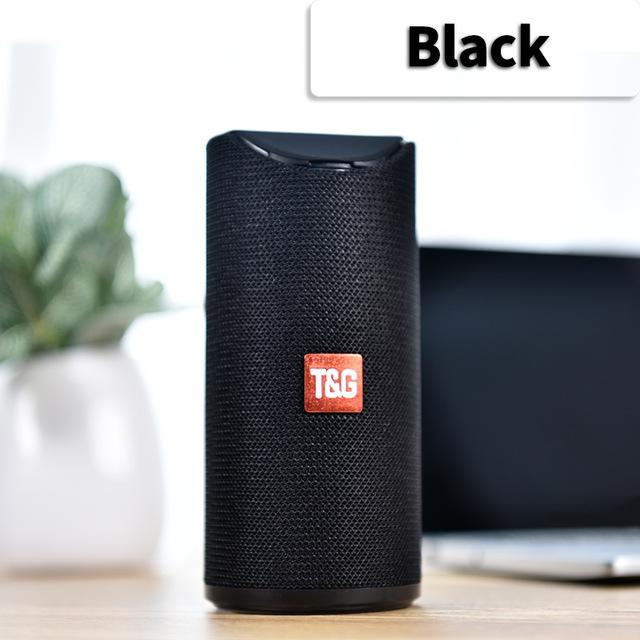 Bluetooth Speaker Portable Built In Battery Pluggable Card Wireless Speaker black